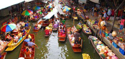 Tempat BEST di Bangkok - pasar terapung